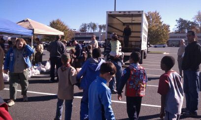 Pack 289 Gathering Food for the Food Bank
