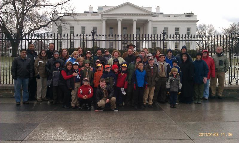 Pack 289 Toured the East Wing of the White House on 1/8/11